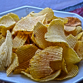 Not so cheap, but still chips by Mario Denić - Food & Drink Plated Food ( chips, plate, good, eat, snack )