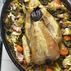 Pot-roast Guinea Fowl With Cabbage & Bacon