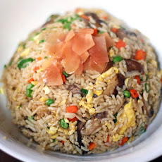 Mushroom Fried Rice with Pickled Ginger