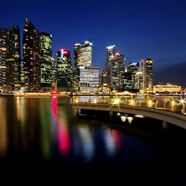 Central Business District Skyline by Ken Goh - City,  Street & Park  Skylines
