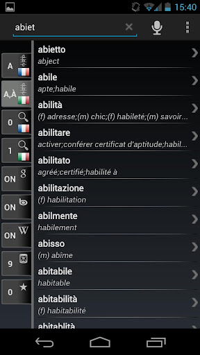 Free Dict French Italian