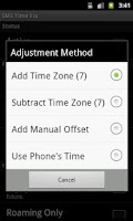 Screenshot of SMS Time Fix