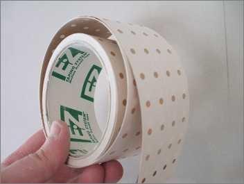 Schönheitspflaster : für hartnäckige Felle sind Pflaster zum Abnehmen auch als Meterware erhältlich.