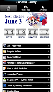 Sonoma County Elections - screenshot