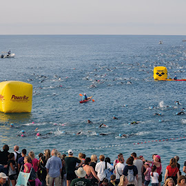 Ironmen Nice 2014 by Victor Eliu - Sports & Fitness Other Sports ( ironmen, crowds, france, people, swimming, crowd, humanity, society )