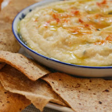 White Bean and Artichoke Dip with Whole Wheat Tortilla Chips