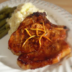 Sticky Ginger Orange Chops with Parsnip, Potato and Honey Mustard Mash