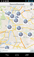 Screenshot of Volkswagen Service Hungary