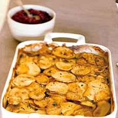 Yukon Gold and Sweet Potato Gratin