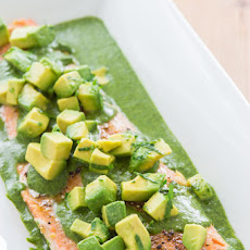 Poached Salmon with Salsa Verde