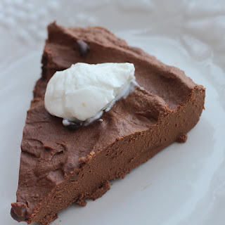 Crustless Choco Pumpkin Pie.