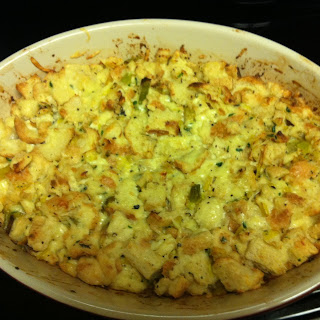 Luscious Leek Bread Pudding