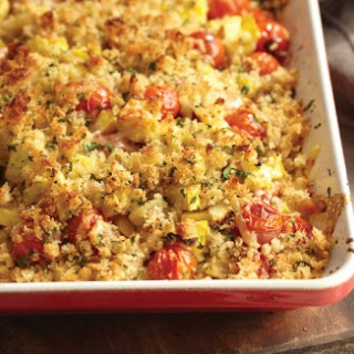 Cherry Tomato and Yellow Squash Crumble