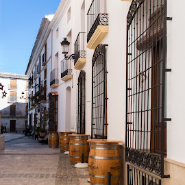 Narrow Streets of Velez Rubio by Chantal Reed - Buildings & Architecture Other Exteriors ( wrought iron gates, barrals, andalucia, winebar, bar, spain, velez rubio )