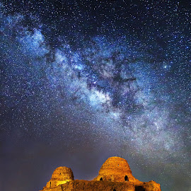 Milky way at the top Sassanian palace sarvestan by Mohamad Javad Jowkar - Buildings & Architecture Public & Historical
