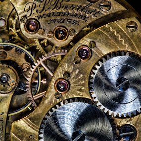 Time gone by by Dbart ... - Artistic Objects Jewelry ( face, time, metal, vintage, gears, closeup, historic, photography, up, close,  )