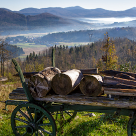 An old and forgotten wagon by Stanislav Horacek - Landscapes Mountains & Hills