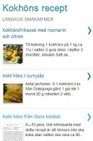 Screenshot of Kokhöns recept