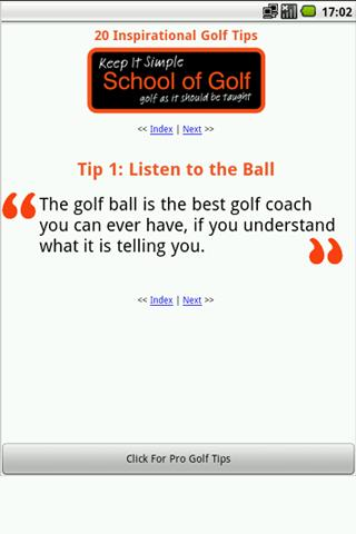 20 Inspirational Golf Tips