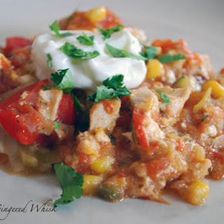 Mexican Chicken Casserole with Charred Tomato Salsa