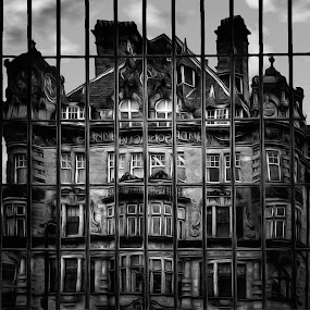 Reflection by Robert Wake - Black & White Buildings & Architecture ( Urban, City, Lifestyle,  )