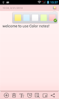 Screenshot of Color Note