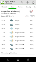 Screenshot of Bayer Agrar Wetter