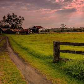 Country New South Wales by Jose Rojas - Landscapes Prairies, Meadows & Fields ( old sheds, scenery, landscape, old barns, country scenery,  )