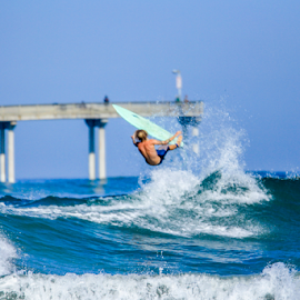 san diego  by Roman Gomez - Sports & Fitness Surfing ( ocean beach, roman-photography, pier )