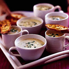 Mum's Leek & Potato Soup With Mustard Toasts