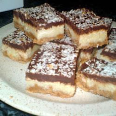 Chocolate And Coconut Biscuit Bars