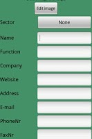 Screenshot of Business card manager