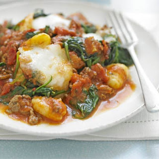 Gnocchi Bolognese With Spinach