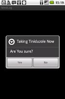 Screenshot of Medication Log
