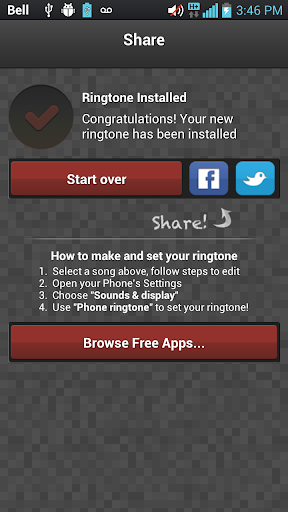 Screenshot #3 of Ringtone Maker Pro / Android
