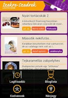 Screenshot of Izekre-Szedrek mobil recipes