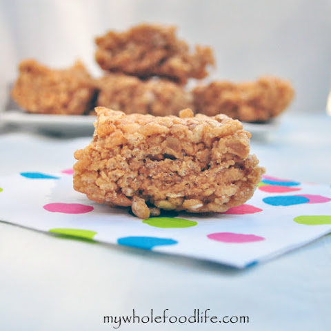 Healthier Peanut Butter Rice Krispy Treats