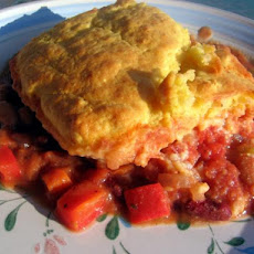 Vegan Cowboy Tamale Pie