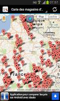 Screenshot of Magasins d'usine en France