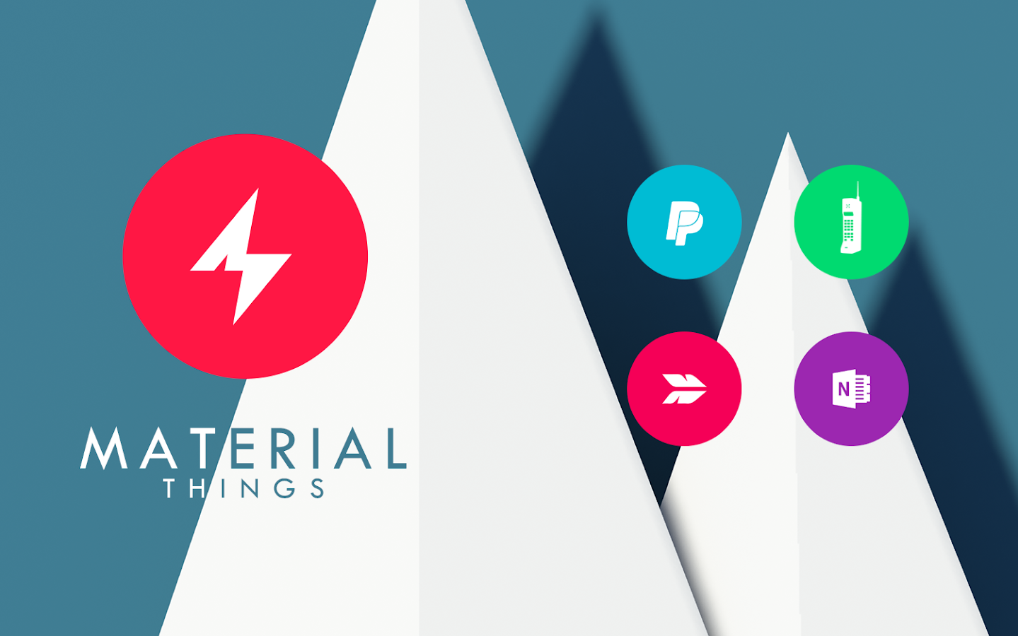 Material Things Colorful Theme Screenshot 8