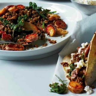 Empellón Chef Alex Stupak's Homemade Green Chorizo Tacos with Kale and Potatoes