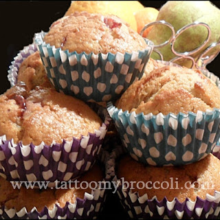Lingonberry (or Strawberry) Jam Muffins
