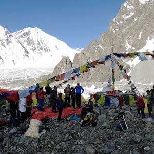 K2 Mountain Base Camp Puja at K2 Base Camp; Ceremony is mandatory for all teams assisted by ...