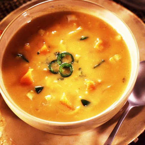 Vegetarian Jalapeno, Sweet potato and Corn Chowder