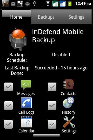 inDefend Mobile Backup