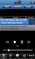 Screenshot of WILL Radio App