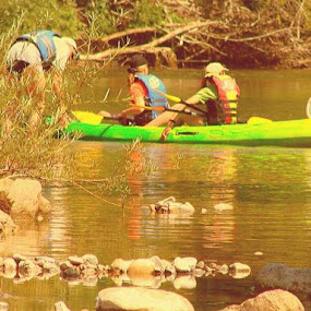 On the River in Kayak by Nat Bolfan-Stosic - Sports & Fitness Other Sports ( sport, enjoy, recreation, kayak, river )