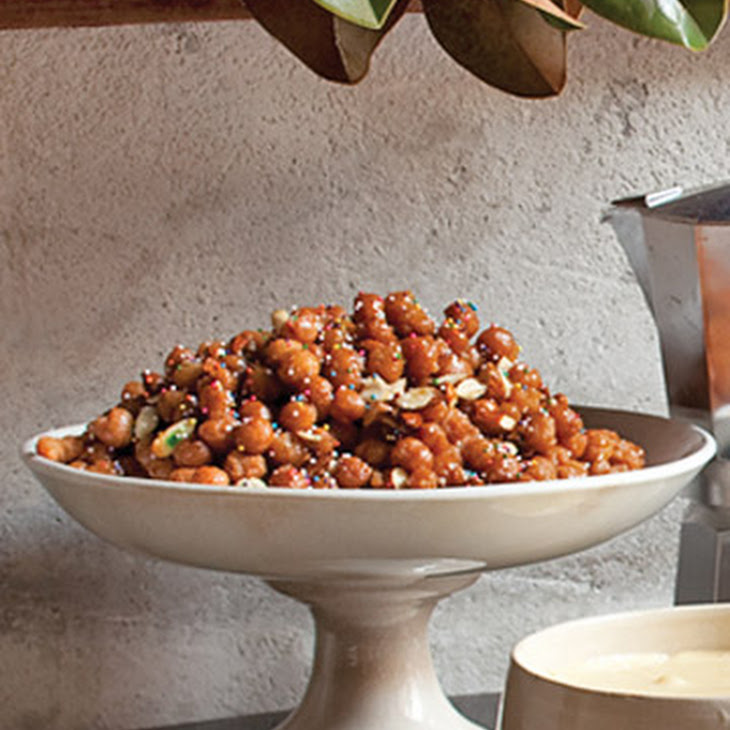 Struffoli (Fried Dough with Honey and Almonds)