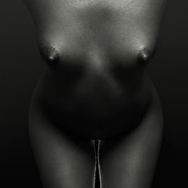 Luft by Maxim Malevich - Nudes & Boudoir Artistic Nude ( breast, erotic, body, nude, black and white, female, naked, woman, artistic nude, tits, skin )
