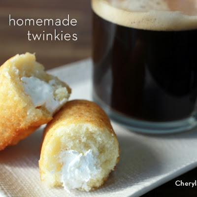 Homemade Twinkies with Cool Whip Frosting filling